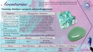 Green aventurine crystals ~ abundance, nurturing, prosperity & growth opportunity