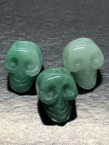 Mini Green Aventurine Skulls ~ ascension & light work