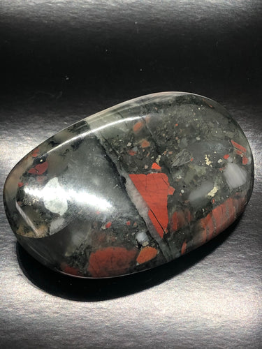Bloodstone Palmstone | Gallet (XL) ~ detoxing, release, purging & courage (2)