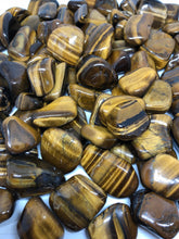 Gold tigers eye tumbles ~ abundance, grounding and balance