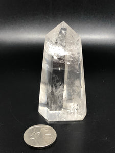 Clear quartz point ~ Power, clarity, amplification, connection, truth & perspective (5)
