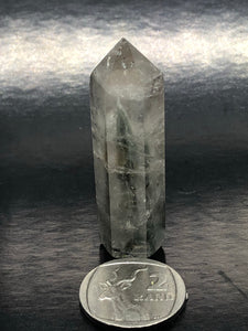 Clear Quartz Point (small) ~ with a very weird something growing inside (UC2)