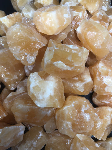 Orange calcite untumbled ~ positive energy, innovative ideas, playfulness and creativity