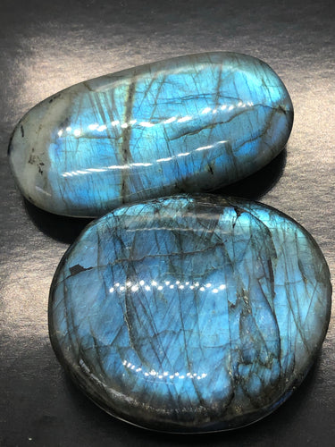 Labradorite palmstones ~ magic, opportunity, healing, perspective & support