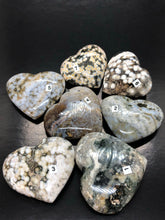 Ocean jasper | Atlantis Stone Hearts (Medium) ~ mystic knowledge, wisdom, alleviates stress & cleansing