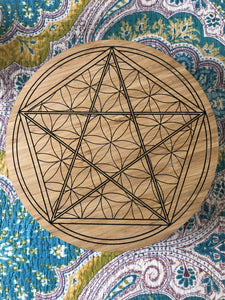 Bamboo Crystal grid, 30cm ~ (Freedom, living in Grace & Acceptance)