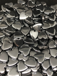 Hematite Hearts (mini) ~ Earth Star Chakra, energy clearing, aligns chakras, joy & vitality