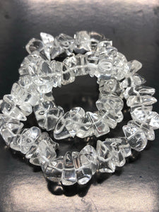 Clear Quartz Bracelet (large beads) ~ for harmony, healing and clarity (1)