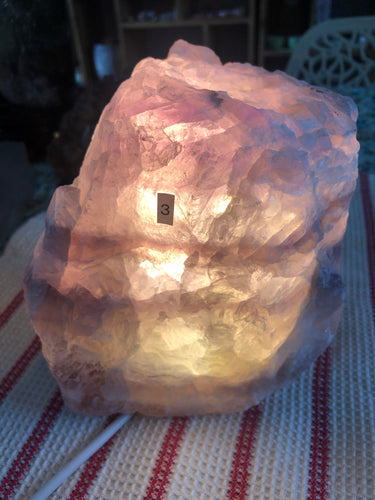 Fluorite Lamp (#3) ~ mental achievements, expanded consciousness & heart healing