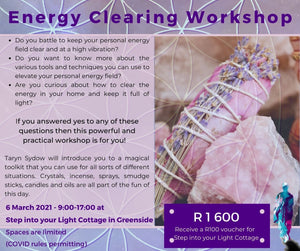 Energy Clearing Workshop ~ 6 March 2021, 9am to 5pm