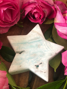 Caribbean Calcite Star ~ earthy, watery, connected, grounding, stabilising (#2)