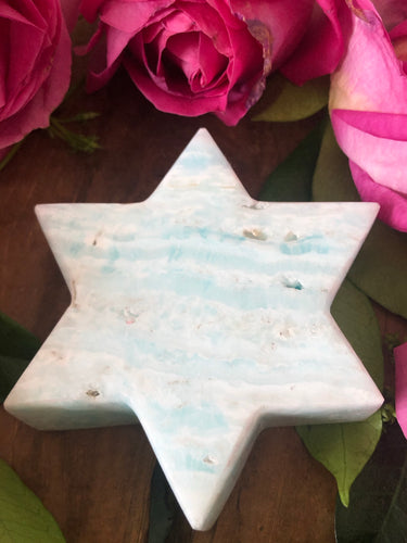Caribbean Calcite Star ~ earthy, watery, connected, grounding, stabilising (#3)