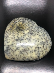 XXL Merlinite | Dendrite Opal Heart ~ magic, abundance, intuition, past life recall, elemental & dimensional connections (#3)
