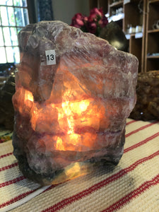 Fluorite Lamp (#13) ~ mental achievements, expanded consciousness & heart healing