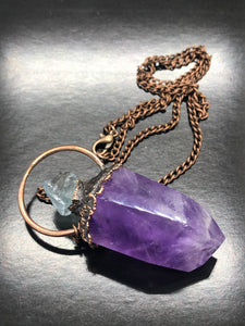 Soul Awakening, Amethyst & Aquamarine Necklace (#1)
