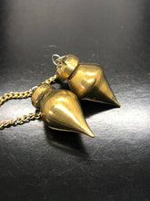 Brass Pendulum, holding Gold Ray Energy ~ yes | no answers