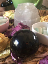 Black Tourmaline Sphere ~ energy cleansing, balance & grounding (2)