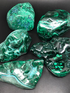 Malachite freeforms ~ Manifestation, raising vibration & spiritual transformation