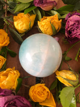 Smithsonite Sphere ~ Calm, soft, gentle, kind, loving & supportive (#10)