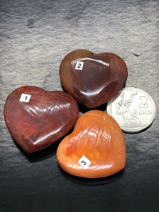 Carnelian Hearts (Small to Medium) ~ passion, energy, action & grounding