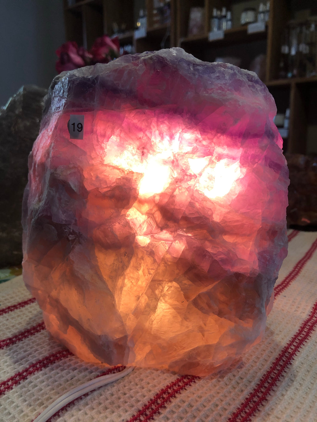 Fluorite Lamp (#19)~ mental achievements, expanded consciousness & heart healing