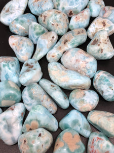 Larimar Tumbles ~ divine feminine within, energy of the sea & sky & balances fire & water energies, serenity & relaxation & universal love
