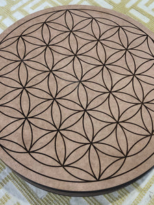 Crystal grid, 30cm ~ Flower of Life (all purpose grid)
