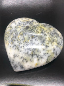 XXL Merlinite | Dendrite Opal Heart ~ magic, abundance, intuition, past life recall, elemental & dimensional connections (#4)