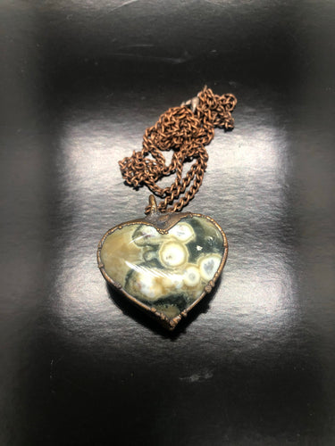Ocean Jasper | Atlantis Stone Heart Necklace ~ love, connectedness & oneness (#2)
