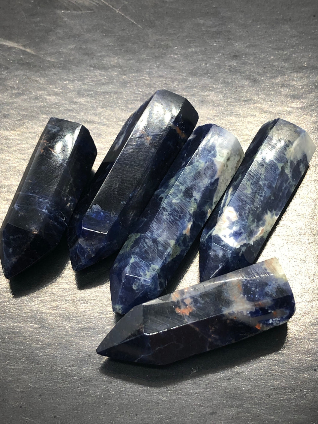 Sodalite Points (Small) ~  psychic & intuition abilities, calmness, self esteem, public speaking & group work