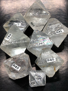 Clear Fluorite Octahedrons ~ Purity, Oness  / connection to All That Is & mental clarity