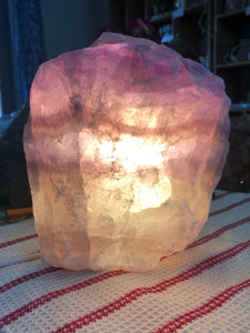 Fluorite Lamp (#11) ~ mental achievements, expanded consciousness & heart healing
