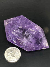 Amethyst, double terminated point ~ divine connection, boundaries, healing and calming (11)