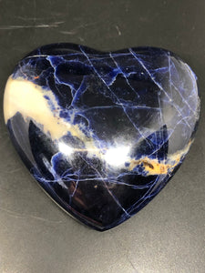 Sodalite Heart (XL) ~ psychic & intuition abilities, calmness, self esteem, public speaking & group work (1)
