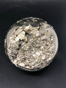 Pyrite Sphere ~  Abundance, truth, confidence, focus, creativity & potential (2)
