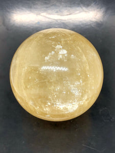 Gold calcite | honey calcite sphere (large) ~ clarity of thought, confidence & abundance (1)