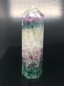 Watermelon Fluorite Point ~ mental achievements, expanded consciousness & heart healing (15)