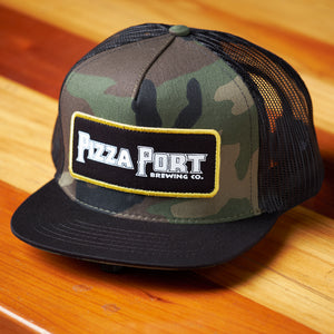 Pizza Port Old School Trucker Hat Camouflage