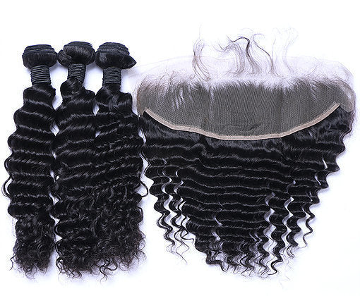 Malaysian Lace Frontals - Deep Curl- Malaysian Hair Extensions, Arjuni hair, burmese hair, hair supplier, hair exporter, hair frontal wefts, lace frontal -Dynasty Goddess Hair
