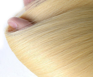 Ombre Blonde 1B/613 Ombre Straight Hair Extensions- blonde hair extensions, Extensions, Weave hair, Weaves, clip in hair extensions, hair weave, human hair weave, ombre Hair, 613 extensions -Dynasty Goddess Hair