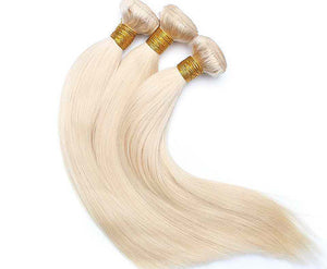 Russian Blonde 613 Straight Hair Extensions- blonde hair extensions, Extensions, Weave hair, Weaves, clip in hair extensions, hair weave, human hair weave, hair store, 613 extensions -Dynasty Goddess Hair