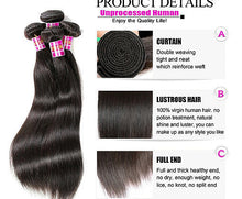 Load image into Gallery viewer, Peruvian Straight Hair Extensions- Peruvian hair extensions, body wave, human hair wigs, natural hair, wavy hair, curly hair, straight hair, hair, wig, wigs, wig store -Dynasty Goddess Hair
