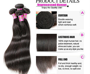 Peruvian Straight Hair Extensions- Peruvian hair extensions, body wave, human hair wigs, natural hair, wavy hair, curly hair, straight hair, hair, wig, wigs, wig store -Dynasty Goddess Hair