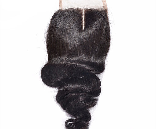Mink Brazilian Lace Closure - Loose Curl- Brazilian Hair Extensions, Arjuni hair, burmese hair, hair supplier, hair exporter, hair closure wefts, lace closure -Dynasty Goddess Hair