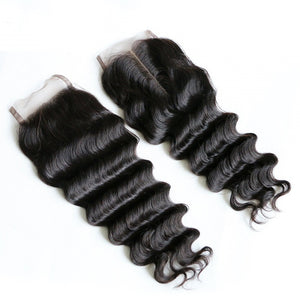 Mink Burmese Lace Closures - Loose Deep Wave- Burmese Hair Extensions, Arjuni hair, burmese hair, hair supplier, hair exporter, hair closure wefts, lace closures -Dynasty Goddess Hair