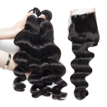 Load image into Gallery viewer, Peruvian Lace Closures - Loose Curl- Peruvian Hair Extensions, Arjuni hair, burmese hair, hair supplier, hair exporter, hair closure wefts, lace closures-Dynasty Goddess Hair