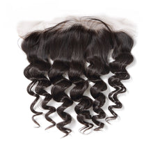 Load image into Gallery viewer, Peruvian Lace Frontals - Loose Curl- Peruvian Hair Extensions, Arjuni hair, burmese hair, hair supplier, hair exporter, hair frontal wefts, lace frontals -Dynasty Goddess Hair