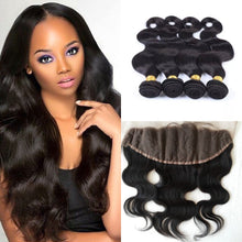 Load image into Gallery viewer, Mink Indian Lace Frontals - Body Wave- Indian Hair Extensions, Arjuni hair, burmese hair, hair supplier, hair exporter, hair frontal wefts, lace frontals -Dynasty Goddess Hair