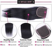 Load image into Gallery viewer, Mink Brazilian Lace Closure - Straight- Brazilian Hair Extensions, Arjuni hair, burmese hair, hair supplier, hair exporter, hair closure wefts, lace closure -Dynasty Goddess Hair