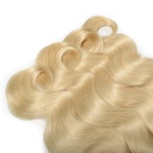 Load image into Gallery viewer, Russian Blonde 613 Body Wave Hair Extensions- blonde hair extensions, Extensions, Weave hair, Weaves, clip in hair extensions, hair weave, human hair weave, hair store, 613 extensions -Dynasty Goddess Hair